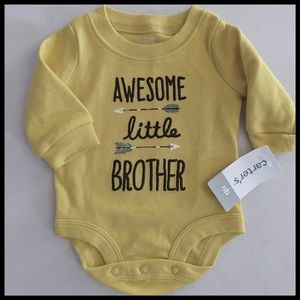 "Carter's ""Little Brother"" Onesie - Size Newborn"
